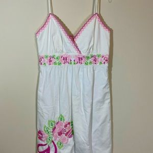 Lilly Pulitzer White Label Embroidered Sundress